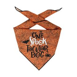 Halloween Bandana | Halloween Dog Bandana, Orange Spider Web | One Spooktacular Dog