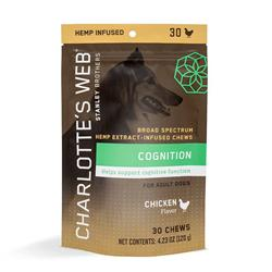 Charlotte's Web Hemp Extract Infused Cognition Chews for Senior Dogs