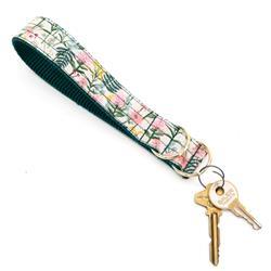 Daisy Pale Pink Rifle Paper Co Wristlet Key Fob