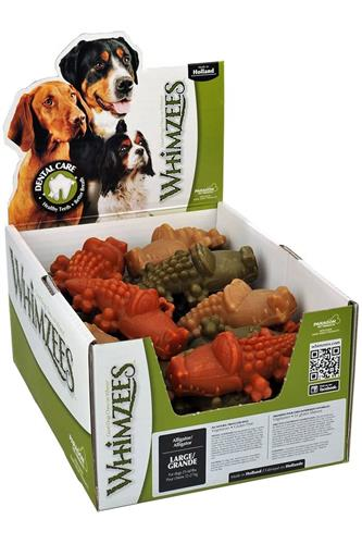 Whimzees Alligator Daily Dental Chews, POP Display Boxes