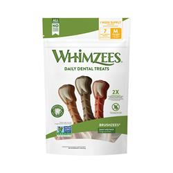 Whimzees Brushzees Daily Dental Dog Treats, Daily Packs