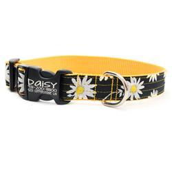 Black Daisy Floral Voile Dog Collar