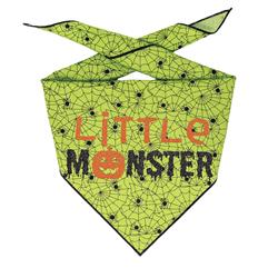 Halloween Bandana | Halloween Dog Bandana, Green Spider Web with Spiders | Little Monster