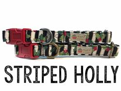 Striped Holly – Organic Cotton Collars & Leashes