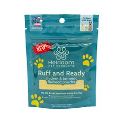 Ruff and Ready - Hemp, Chicken, and Turmeric Food Topper for Dogs, 2.37oz. Bag