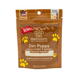 Zen Puppy - Hemp, Peanut Butter and Banana Flavored Food Topper for Dogs, 2.46oz. Bag