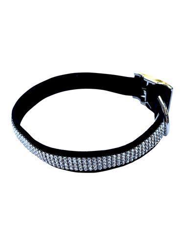 Super Star 4-Row Dog Collar: Black