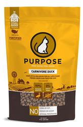 Purpose Freeze-Dried Carnivore Duck Cat Food, 9 oz