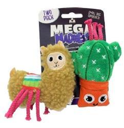 Mega Madness Small Dog Toys - Llama 2 pack! (CASE OF 3 $14.40) JUST $4.80 EA