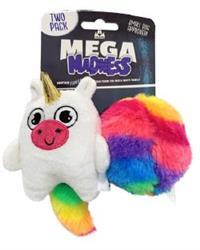 Mega Madness Small Dog Toys - Unicorn 2 Pack (CASE OF 3 $14.40) $4.80 EACH!
