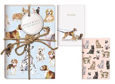 PET LOVERS Set of 3 Twine Journals