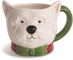 WHITE TERRIER - Holiday Character Mug