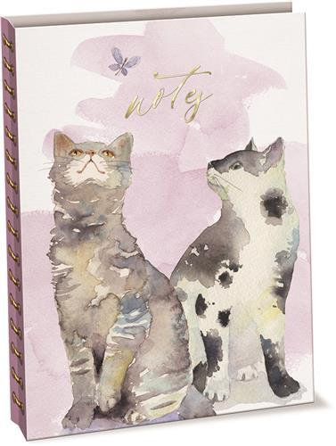 Butterfly Cats - Linen & Paper Spiral Journal
