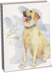 Golden Retriever - Linen & Paper Spiral Journal