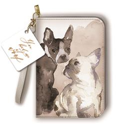Painted Dogs - Clutch Zipper Journal