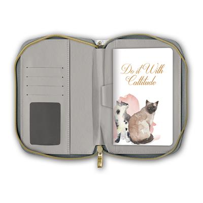 Painted Cats - Clutch Zipper Journal