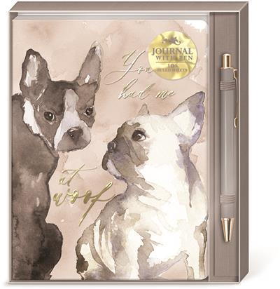 DOG DUO - Boxed Journal & Pen Set