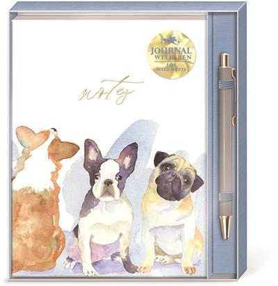 DOG TRIO - Boxed Journal & Pen Set