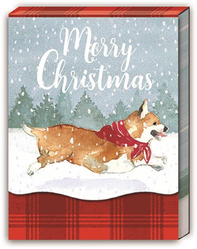 SNOW LEAPING DOG - Pocket Note Pad