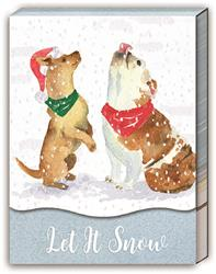 SNOWFLAKE DOGS - Pocket Note Pad