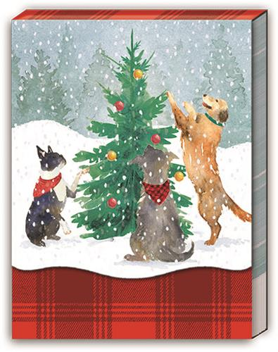 TREE TRIMMING DOGS - Pocket Note Pad