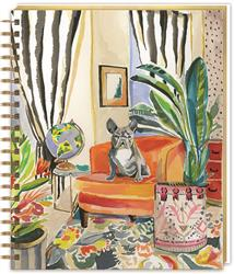 FRENCHIE DÉCOR - Oversized Spiral Journal w/ Hard Cover