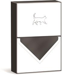 WALKING CAT - Sketch Pet Boxed Note Cards