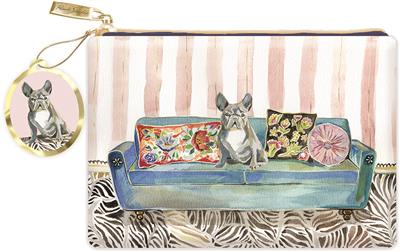 FRENCHIE COUCH - Faux Leather Glam Pouch