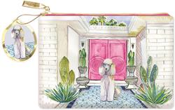 PALM SPRING POODLE - Faux Leather Glam Pouch