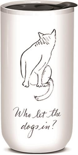 Who Let The Dogs In - Ceramic Travel Mug
