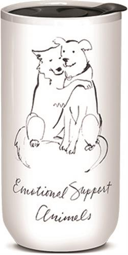 Hugging Dogs - Ceramic Travel Mug