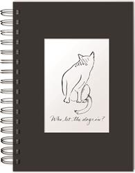Who Let The Dogs In - Hardcover Spiral Bound Journal