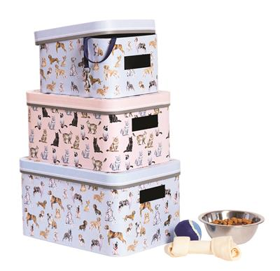 Classic Pets Set of 3 Nesting Storage Bins