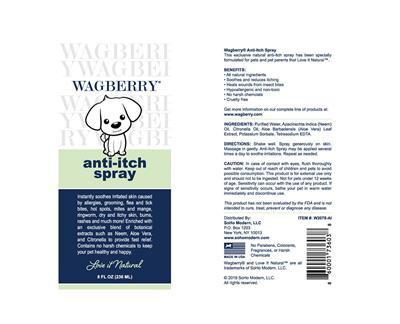 Wagberry Anti-Itch Spray - 8 fl. oz.
