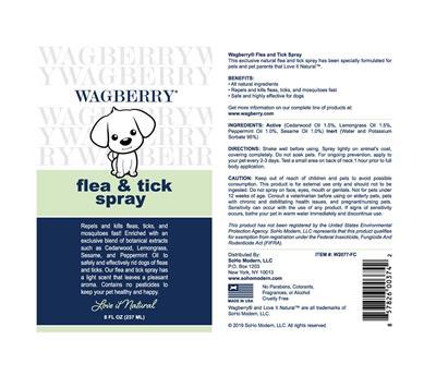 Wagberry Flea & Tick Spray - 8 fl. oz.