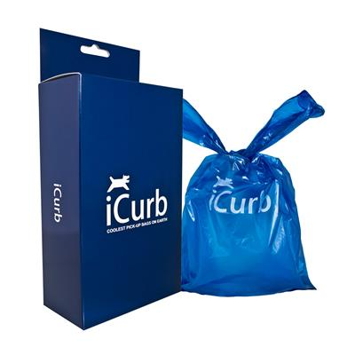 Wagberry iCurb Pet Waste Bags - Box of 100 Bags