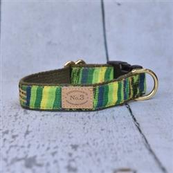 "1"" Kelley Green Ikat Collars and Leads"