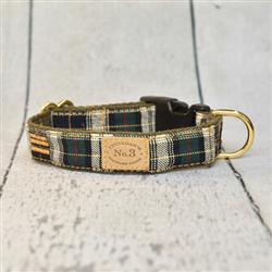 "1"" Harrington Plaid collar & Lead"