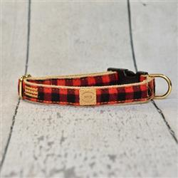 Red Buffalo Plaid (small pattern)  Collar, Lead and Harness