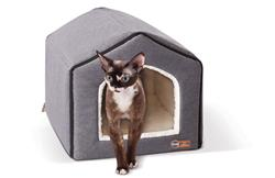 "Indoor Pet House in Classy Gray/Natural, 16"" x 15"" x 14"""