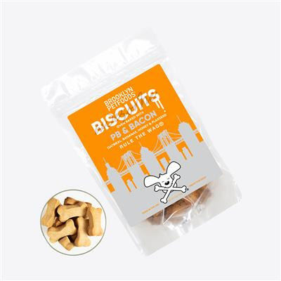 Brooklyn Petfoods Awesome PB & Bacon Biscuits - 6 oz. Bag
