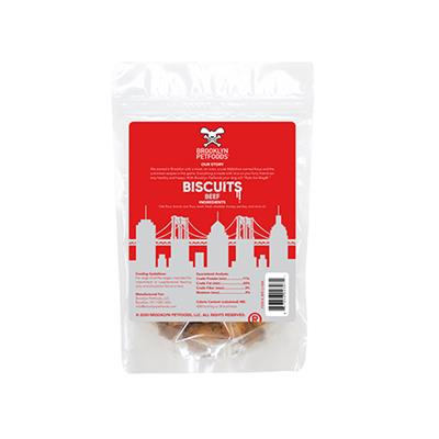 Brooklyn Petfoods Awesome Beef Biscuits - 6 oz. Bag