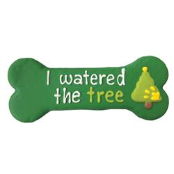 "Pre-packaged 'I Watered the Tree' 8"" Bone, 8/Case, Yappy Howlidays, MSRP $7.99"