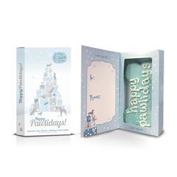 "Pre-packaged Happy Pawlidays 6"" Bone Card Box, 12/Case, Yappy Howlidays, MSRP $7.99"