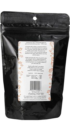 Dehydrated Beef Liver Dog Treats, 5 oz Bag