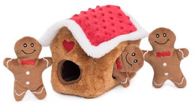 Gingerbread House Burrow by Zippy Paws