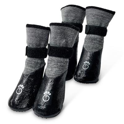 Charcoal Grey Booties by GF Pet