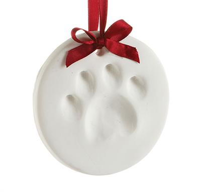Dog Paw Print Ornament by Pearhead