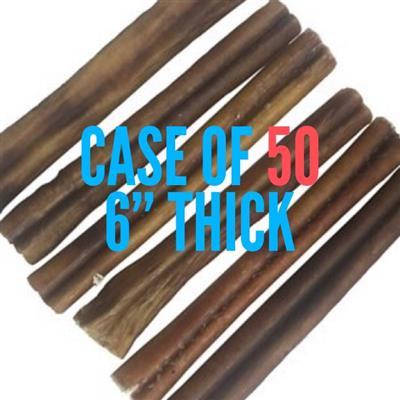 "USA Odorless THICK 6"" Bully Sticks - Banded Singles"