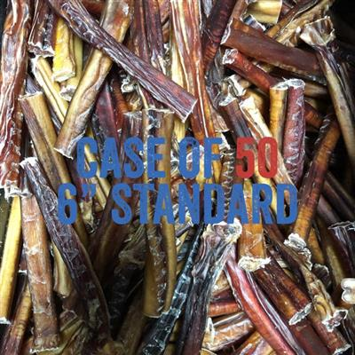 USA Odorless Standard 6'' Bully Sticks - Bulk - No Packaging
